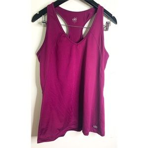 Alo Cool Fit Purple Racerback Work Out Tank Top